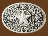 "Western Star Belt Buckle, 3-3/8"" x 2-1/4"""