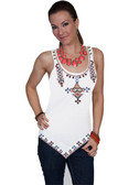 WHITE SLEEVELESS TUNIC