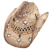 WHOLY COW RAFFIA COOL HEAD Cowboy Hat