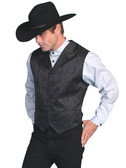 WILD BLACK COWBOY VEST UNIQUE STYLE OLD WEST