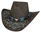ACE HIGH Straw Cowboy Hat by Bullhide® Hats.