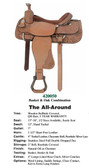 ALL AROUND SADDLE TRUE WESTERN STYLE ADE IN THE USA