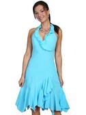 100% Peruvian Cotton Halter Dress With Soutache Decoration 62157