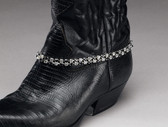 Austrian Crystal Black Boot Bracelet, Double Row