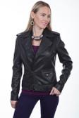 Ladies studded motorcycle jacket