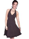 100% Peruvian Cotton Halter Dress With Soutache Decoration 62154