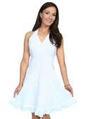100% Peruvian Cotton Halter Dress With Soutache Decoration 62155