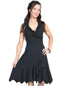 100% Peruvian Cotton Halter Dress With Soutache Decoration 62156