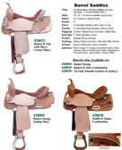 BARREL SADDLES 6 CHOICES OF DESIGN
