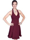 100% Peruvian Cotton Halter Dress With Soutache Decoration 62153