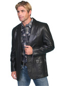 BLACK LEATHER BLAZER BY SCULLY