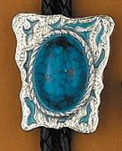 Blue Stone Bolo Tie