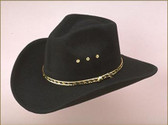 BLACK Pinch Front Faux Felt Cowboy Hat