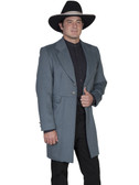 Blue Mens Frock Coat Jacket By Scully Leather