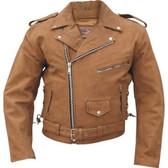 Brown Suede Bomber Moto Jacket