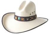 BRONCO TURQUIOSE BONE ACCENT Cowboy Hat WITH CONCHO