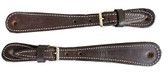 BROWN LEATHER SPUR STRAPS