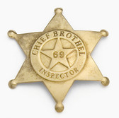 BRASS BROTHEL INSPECTOR BADGE