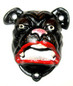 CAST IRON BULL DOG BOTTLE OPENER FOR 3 HOLES FOR WALL MOUNT