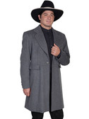 Charcoal Mens Frock Coat Jacket By Scully Leather