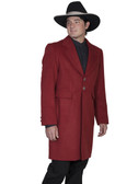 CINNABAR Mens Frock Coat Jacket By Scully Leather