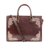 Leather handbag for tablets and laptops