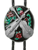 Country Music & Rose Bolo Tie Made in USA