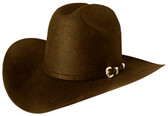DARK BROWN WOOL FELT Cowboy Hat WITH SILVER BUCKLE Cowboy Hat BAND