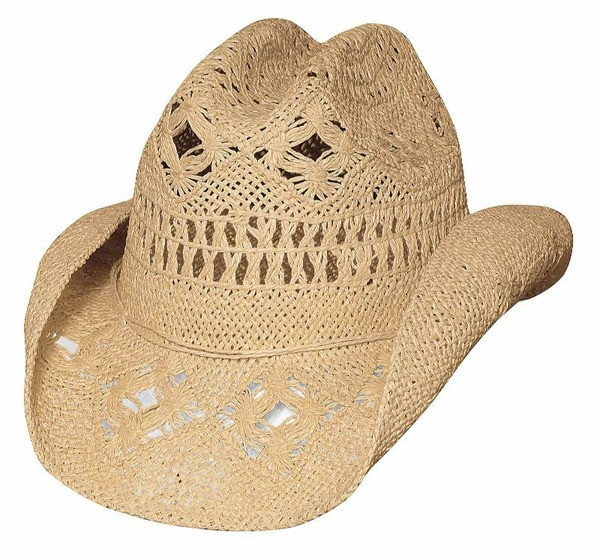 c7aece8e178 Des Moines straw cowboy hat by Bullhide® Hats. Available in sizes ...