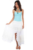 Tiered lace White skirt
