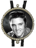Young Elvis Head Shot Bolo Tie