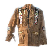EAGLES VICTORY FRINGED BEADES BONED JACKET
