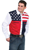 Embroidered Mens Western Shirts Stars and Stripes