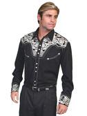 Embroidered Mens Western Shirts Gunfighter 43313