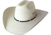 EXTRA FINE PALM LEAF Cowboy Hat WITH BLACK IMITATION LEATHER Cowboy Hat BAND