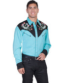 Embroidered Mens Western Shirts Horseshoe