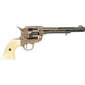 FD1281L.45 Army Revolver - Engraved Brass