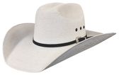 FINE PALM LEAF CATTLEMAN Cowboy Hat, LOW CROWN WITH BIPLAY Cowboy Hat BAND & EYELETS