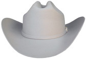 FINE SILVER BELLY WOOL FELT Cowboy Hat 6X WITH A SILVER BUCKLE WITH STONE INCRUSTED