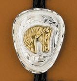 German Silver Horse Head Bolo Tie
