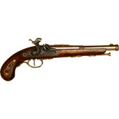 19th Century French Percussion Dueling Pistol - Brass