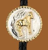 German Silver Standing Horse Bolo Tie
