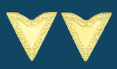 Gold Economy Collar Tips, Screw-On