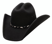 "Guns shapeable felt cowboy hat by Bullhide® Hats frome the Justin Moore Signature Collection.  Brim: 4""  Available in sizes Small, Med, Large, XL."