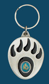Grizzley Paw Key Ring, Turquoise