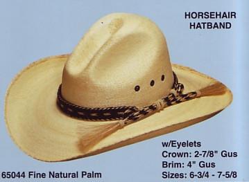 Gus Cowboy Hat W/HORSEHAIR Cowboy Hat BAND