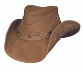 Hidden Pleasures leather cowboy hat by Bullhide® Hats.  Honey.  Available in sizes S, M, L, XL