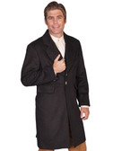 HEATHER BLACK Mens Frock Coat Jacket By Scully Leather