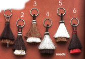HORSEHAIR TASSLE KEY RINGS