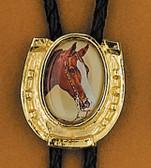 Horsehead & Horseshoe Bolo Tie